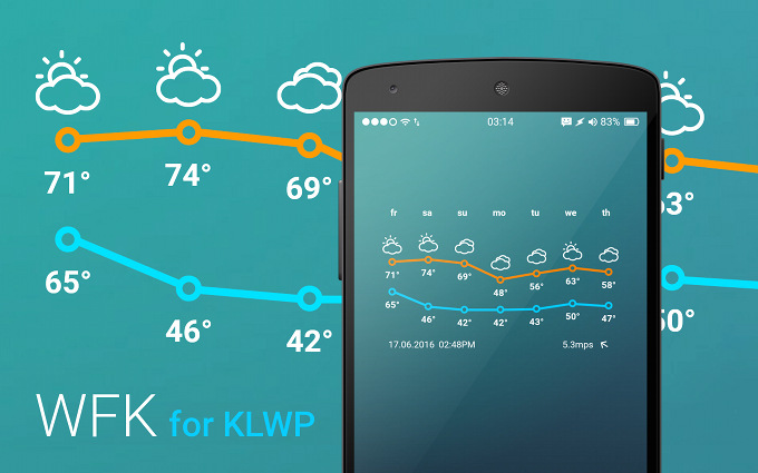 Weather Forecast Komponent for KLWP Live Wallpaper Maker